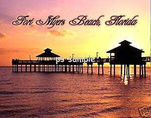 Florida-FORT-MYERS-BEACH-PIER-Souvenir-Fridge-Magnet