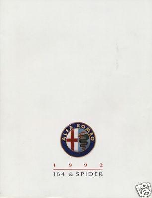 1992 ALFA ROMEO SPIDER 164 SALES BROCHURE