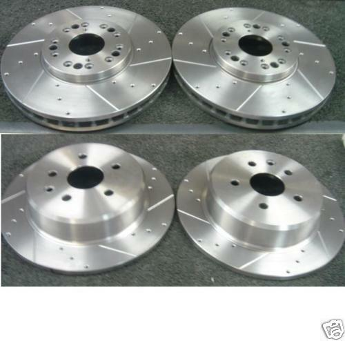 FOR LEXUS GS430 FRONT REAR DRILLED GROOVED BRAKE DISCS