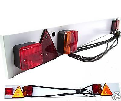 ANHÄNGERBELEUCHTUNG Beleuchtungsbalken Anhänger Trailer Lichtbrücke Rückleuchten