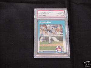 1987-Fleer-GREG-MADDUX-Baseball-Card-Graded-PSA-8