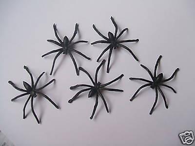 5 x Spinne Spinnen Spider Kunstsstoff Deko Halloween Herbst Spiderman