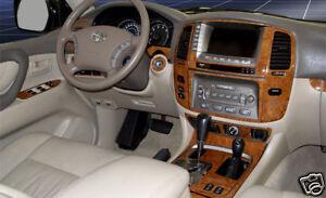 Toyota Land Cruiser Interior Wood Dash Trim Kit Set 2003 03 2004 2005 2006 2007 Ebay
