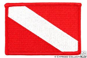 DIVER DOWN FLAG EMBROIDERED PATCH Scuba Diving Gift NEW