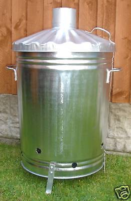 90 LITRE GARDEN INCINERATOR/BURNER FOR GARDEN RUBBISH.