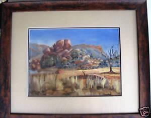 Bernard-Evans-original-oil-titled-039-Central-Australian-Landscape-039