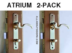 2-Atrium-door-locks-New-Exact-Replacement-Pol-Brass