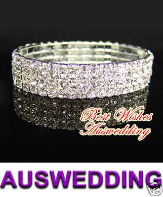 4-Row-Wedding-Bridal-Crystal-Rhinestone-Bracelet-7-9