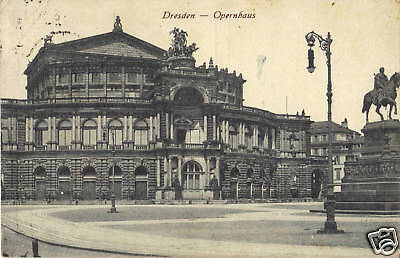 Dresden, Opernhaus, Semper-Oper, alte Ansichtskarte um 1920