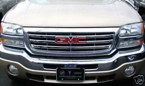 2003-2006-GMC-Sierra-1500-2500-3500-Chrome-Grille-Insert-Grill-Overlay-BRAND-NEW