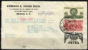 Mexico 1938 Airmailcover by S/S Queen Mary to Vienna