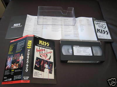 KISS Exposed Japan Original VHS NTSC Video 1987