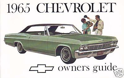 1965 Chevrolet Owners Manual-full Size