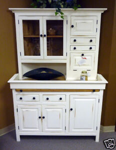PINE CORNER HOOSIER Cabinet Unusual Design USA Reproduction