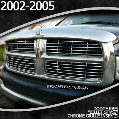2002-2005 Dodge Ram Chrome Grille Overlay Billet-style on Sale