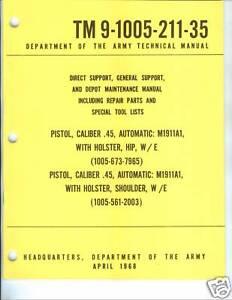 Pistol-Cal-45-M1911A1-Maintenance-Manual