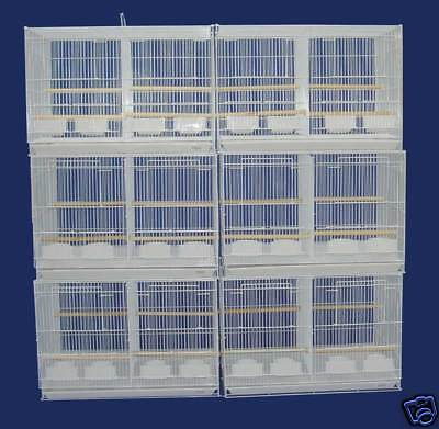Lot of 6 Aviary Bird Breeder Breeding Cage 24x16x16 With Divider--2434 White-151