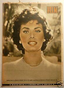 SOPHIA LOREN - polish mag [1958] GERARD PHILIPE - <span itemprop=availableAtOrFrom>Gniezno, Polska</span> - SOPHIA LOREN - polish mag [1958] GERARD PHILIPE - Gniezno, Polska