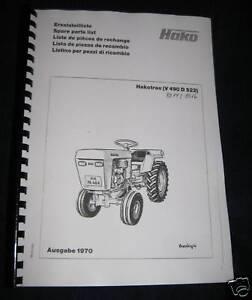 Hakotrac V490 D522 Ersatzteilliste (8014/8016)