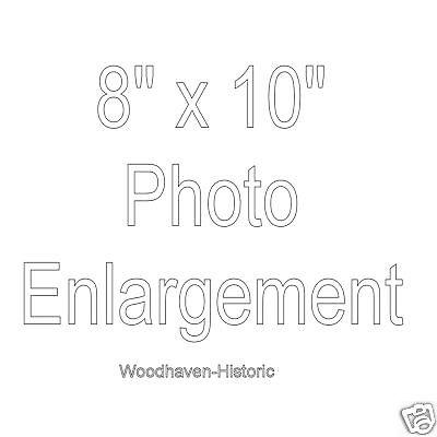 8 X 10 Photo Enlargement Option - Please Read Description Before Ordering
