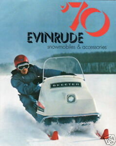 1970 EVINRUDE FULL LINE  SNOWMOBILE SALES BROCHURE  good price