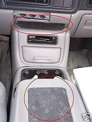 Center Console Nonslip Nonskid Rubber Mat Chevy Gmc 2pc