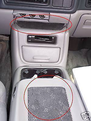 Center Console Nonslip Nonskid Rubber Mat Chevy Gmc 2pc Fast Shipping