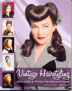 Vintage Hairstyling book Retro 1940s 1950s Hairstyle WW2 Hair by Lauren Rennells