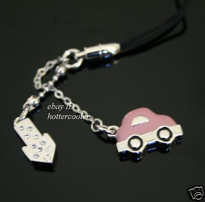 SIGNED-SWAROVSKI-Edison-Scooter-CAR-Cell-Phone-CHARM
