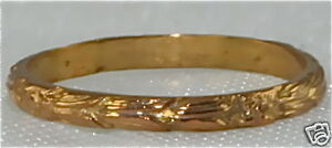 ART DECO ANTIQUE 10K GOLD BABY BAND RING