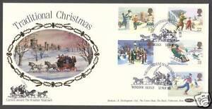 1990-CHRISTMAS-SET-OF-5-ON-BENHAM-BLCS59-FDC-SP-HS