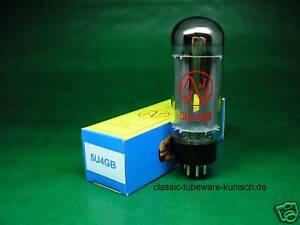 BANDTILE2 x 5U4GB JJ Gleichrichterröhre neu rectifier tube 5U4G