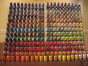 HUGE-LOT-OF-260-Spools-Embroidery-Machine-Thread