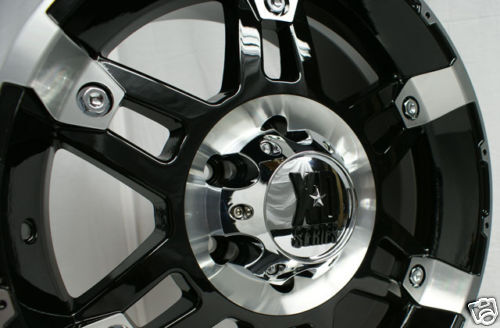 "18 x 9"" inch Black KMC XD Series Spy Wheels Rims Mach"