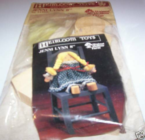 Heirloom Toys Jenni Lynn 8 Doll Stain & Paint Wooden Doll Craft