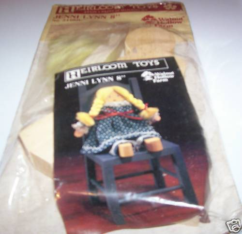 Heirloom Toys Jenni Lynn 8 Doll Stain & Paint Wooden Doll Craft