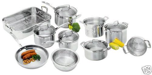 NEW SCANPAN Impact 10 piece Cookware Set RRP $1000.00