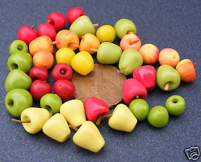 1:12 Scale 12 Mixed Apples Dolls House Miniature Food Fruit Kitchen Accessory