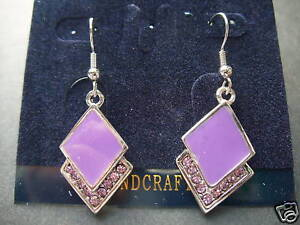 OVERLAPPING-DIAMONDS-PURPLE-SILVER-DIAMANTE-EARRINGS