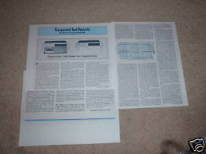 Phase Linear 7000 II Cassette Review,3 pgs,1980,Info