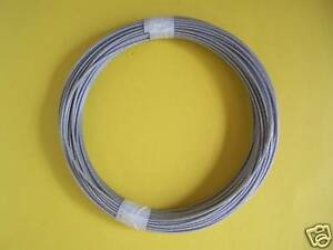 Vinyl Coated Wire Rope Cable,1/16\