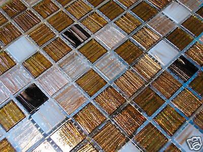 Glasmosaik Fliesen Goldene Seide Goldregen S3 Bad Dusche Sauna Pool Mosaik