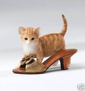 Country Artists Kitten Heels Beatrice Ginger Tabby Cat Figurine Gift Box 12443