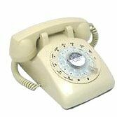 Retro-Desk-Phone-with-Working-Rotary-Dial-Cream-Old-Fashioned-1970s-Telephone