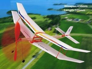 ☆Rubber Band Powered Glider Plane Kit Flying Model Toy