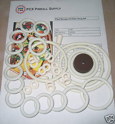1968 Gottlieb Paul Bunyan Pinball Rubber Ring Kit