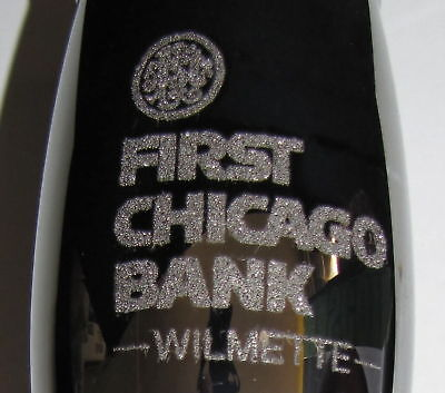 1st Chicago Bank Wilmette 25th Loyola Ramble 1994 Metallic Finish Wine Glass