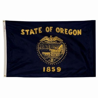 Oregon The Beaver State Official Flag 3x5 Ft 2 Sided Outdoor Nylon Usa Made