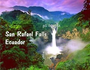Ecuador-SAN-RAFAEL-FALLS-Souvenir-Fridge-Magnet