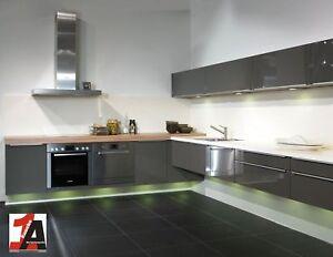 ALNO AG ALTANONOLUX Einbauküche L-Form Grafit Hochglanz Edition Fly Design